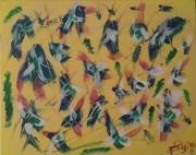 tableau abstrait jaine agabus bleu : Agabus