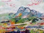 tableau paysages alpilles collines vignes et oliviers saint remy de proven : les Alpilles 2