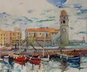 tableau architecture matisse derain port : Collioure -Église Notre-Dame-des-Anges