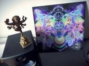 art numerique personnages psychedelique geometrie trance illusion : Join the Acid Side