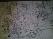 tableau : dessins noirs et blancs