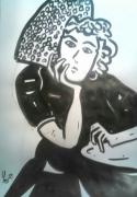 dessin personnages loic maxamber erquy femmes cinema : encre-2019-07-16-02