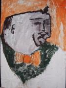 mixte personnages acrylique journal expressionnisme : personnage 8
