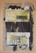 mixte abstrait acrylique abstrait enveloppe collage : lettre6