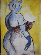 mixte personnages mixte acrylique expressionnisme journal : personnage 7