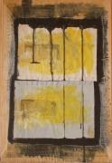 mixte abstrait acrylique abstrait collage : lettre5