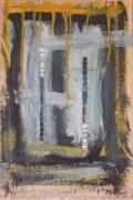 mixte abstrait acrylique mixte abstrait : lettre3