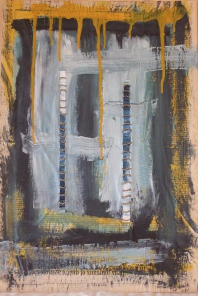 MIXTE acrylique mixte abstrait Abstrait  - lettre3