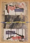 tableau abstrait acrylique lettre journal : lettre1