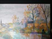 tableau bretagne pontaven automne : Pont-Aven