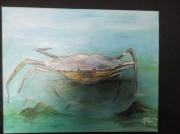 tableau animaux mer crabe vert : Crabe