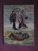 tableau personnages bretagne affiche folklorique : Folklore Breton