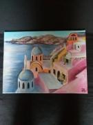 tableau paysages santorin paysage typique : Santorin
