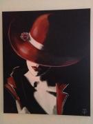 tableau personnages chapeau dame : Chapeau madame