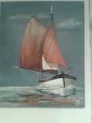 tableau marine bretagne vieux greement vieille coque marine : Vieux gréements