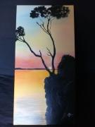 tableau paysages croatie coucher soleil : Coucher de soleil