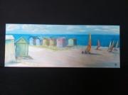 tableau paysages le nord berck plage chars ,a voiles : Berck plage
