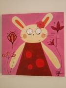 tableau personnages lapin chambre enfants naif : Le lapin