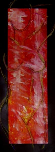 TABLEAU PEINTURE Personnage nus peinture rouge Personnages Acrylique  - Partition 2