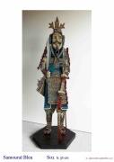 sculpture personnages japon guerrier tradition collection : SAMOURAÏ BLEU