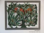 tableau fleurs mystere foret fleurs vegetal : BROCELIANDE