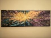 tableau abstrait : La vie est belle