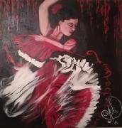 tableau personnages : Danseuse de flamenco