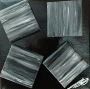 tableau abstrait egalite noir et blanc : Tous differents et pourtant semblables