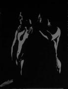 tableau nus couple hommes sensuel : massages