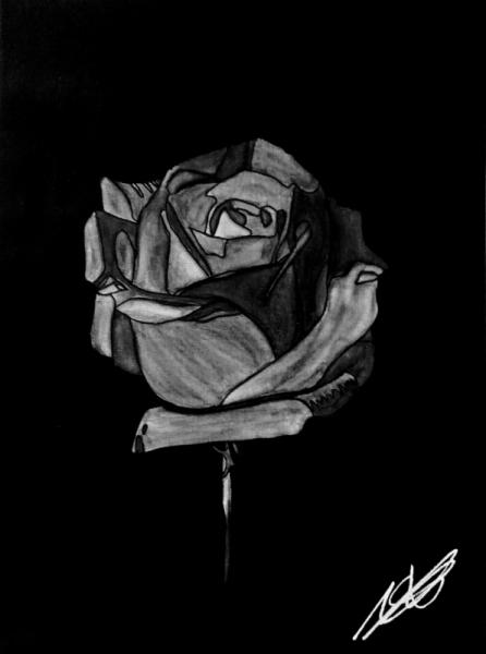 TABLEAU PEINTURE Roses Amour Symbolique Acrylique  - 1...coup de foudre