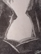 dessin nus femmes nu buste pointillisme : Cœur à cœur...