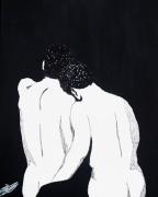 tableau nus hommes monochrome sensuel : calinades masculines