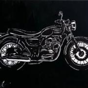 tableau autres moto monochrome kawasaki : kawasaki W650