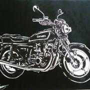 tableau autres moto monochrome suzuki : suzuhi GS750
