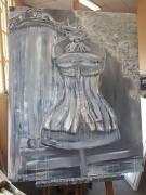 painting nature morte femme elegance ancien grasse : Grasse