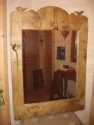 artisanat dart marine chalets montagne rustique tradition : Miroir  Vieux Châtaigner