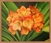 tableau nature morte fleurs orange nature : Fleurs oranges