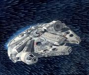 tableau autres star wars millenium falcon han solo chewbacca : Star Wars Millenium Falcon