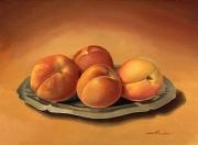 tableau fruits abricots plat inox composition : Les abricots