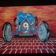 painting autres ducatti voiture ancienne ducatti sport type 3 : Ducatti sur pavé