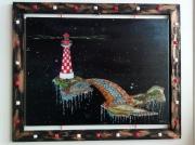 tableau marine phare espace ponton : Le ponton