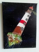 tableau marine phare espace : Phare errant