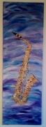 tableau autres saxophone : sax sur bleu