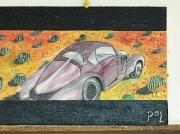 tableau autres voiture ancienne : Dans le désert