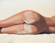 tableau nus nu femme erotique realisme : hot sand