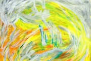 dessin abstrait lumiere ombre jaune abstrait : Naissance