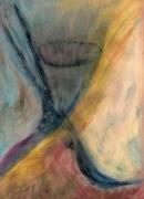 dessin abstrait tristesse espoir bleu ame : Espoir et désillusion