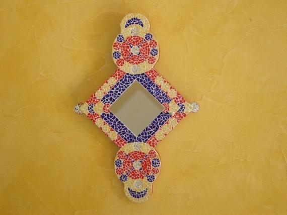 ARTISANAT D'ART mosaïque miroir orient émaux  - miroir orient en mosaique