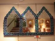 artisanat dart autres miroir vitrail mosaique triptyque : miroir triptyque marocain en mosaique