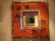 artisanat dart autres miroir mosaique automne verre : miroir automne en mosaique